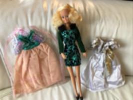 VINTAGE 1978 Barbie Golden Dream Clone Shillman Mini Mod Doll & Lucky Fa... - $24.74