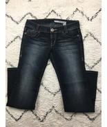 DKNY Women's Dark Stonewashed Extreme Brooklyn Jeans Size 9R Style HURU1... - $16.39