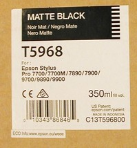 Epson Matte Black T5968 350ML Ink Free Shipping Guaranteed 2018 - $64.95