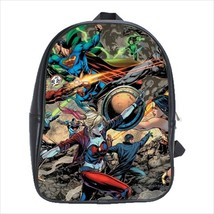 School bag 3 sizes bookbag superman wonder woman harley quinn - $39.00+
