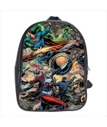 School bag 3 sizes bookbag superman wonder woman harley quinn - $39.00+