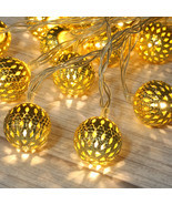 Betus 10Ft 20 LED Moroccan Globe LED Fairy String Lights Battery Powered - $13.05 CAD