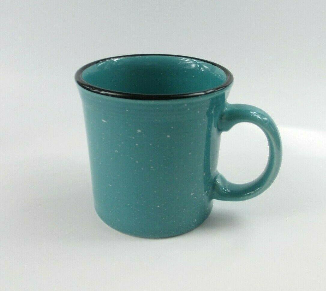 HLC Fiesta USA  Aqua Turquoise Blue Coffee Mug Cup Ring Handle Circa 1989 - $21.11