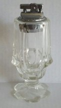 Large Fenton Clear Valencia Tabletop Cigarette Lighter  - $19.00
