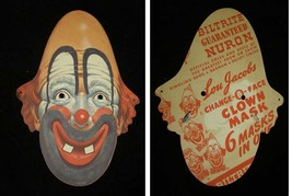 Lou Jacobs Change-O-Face Clown Mask Ringling Brothers Barnum & Bailey Ci... - $49.99