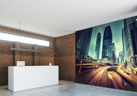 3D City Highway P29 Business Wallpaper Wall Mural Self-adhesive Commerce An - $13.49+