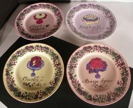 4 Rosanna Dessert Snack Plate (s) Cake Pie Blackberry Cheesecake Orange ... - $21.73