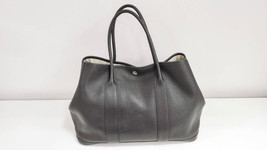 Auth Hermes Garden Party PM black K Leather Tote - $2,637.58