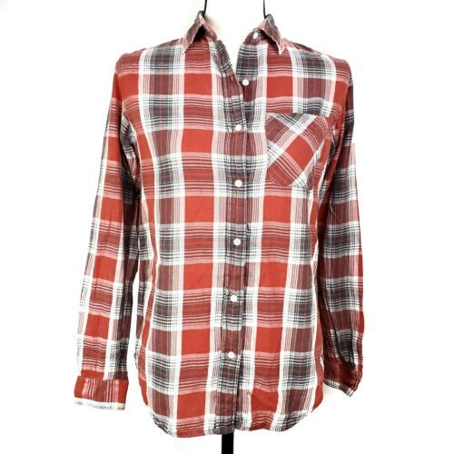 Primary image for Denim & Supply Ralph Lauren Womens Shirt XS Red Plaid Button Front Long Sleeve