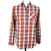 Denim & Supply Ralph Lauren Womens Shirt XS Red Plaid Button Front Long ... - $24.99