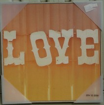 """Target Wall Art - 12"""" X 12"""" X 1.3"""" - Love -BRAND New Great Design And Color - $21.77"""