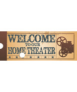 Welcome Home Theater Metal Sign - $19.95