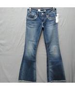 Seven7 Flare Womens Size 9 L32  Raw Hems in Mojo Blue - $29.99