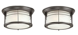 Westinghouse 6674600 Senecaville Two-Light Exterior Flush-Mount Fixture, Weather - $80.98