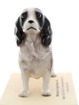 Hagen-Renaker Miniature Ceramic Dog Figurine Cocker Spaniel Pedigree Black White image 1