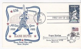 BABE RUTH #2046 CHICAGO, IL JULY 6, 1983 BOWIE STAMP CLUB CACHET DUAL CA... - ₹217.21 INR