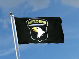 """""""Airborne"""" Black Flag 3' x5' New in Package - $7.70"""