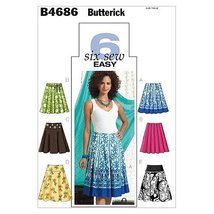 BUTTERICK PATTERNS B4686 Misses' Skirt, Size AA (6-8-10-12) - $14.99