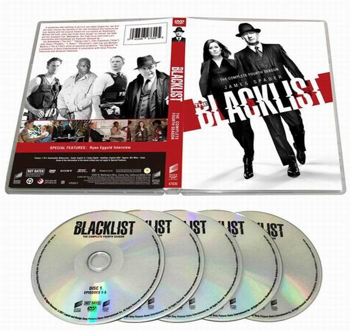The Blacklist The Complete Season 4 DVD Box Set 5 Disc Free Shipping New