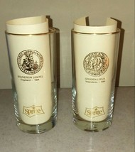 Sprite 1967 Lot of 2 Glasses / Coke Coca Cola Bottling Plant / Soda  - $29.69