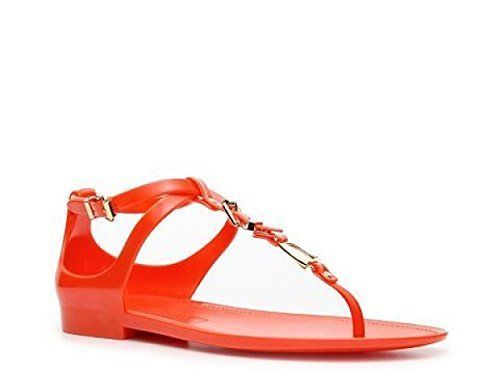 b0fc6a2b935 S l1600. S l1600. Ralph Lauren Collection Karly Jelly Gladiator Orange  Sandals ...