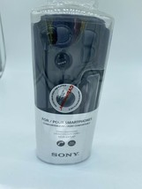 Black Sony MDR-EX15AP Fashion Headphone Earbud Microphone Ex Voice Command - $5.93