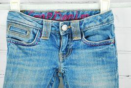 Gap Kids Girl's Jeans Size 4 Regular - 99% Cotton Embroidered Back Pockets Pink image 4