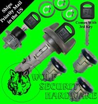 Astro Safari 1998 OEM Ignition Door Rear Key Lock Cylinder Set Black 3 GM Keys - $109.96