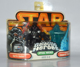 Star Wars Galactic Heroes Darth Vader and Holographic Emperor Palpatine - $24.08