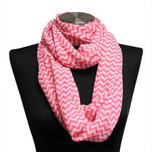 10pc Pink Chevron Sheer Infinity Scarf Wrap WHOLESALE BULK LOT - $14.00