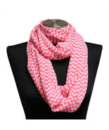 10pc Pink Chevron Sheer Infinity Scarf Wrap WHOLESALE BULK LOT - €12,86 EUR
