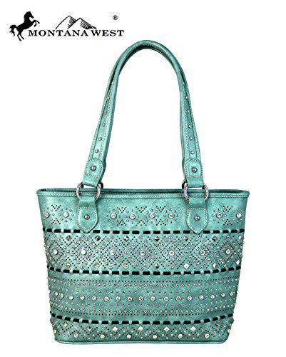 Bling Rhinestone Studded Bag Shoulder Purse (Turquoise)