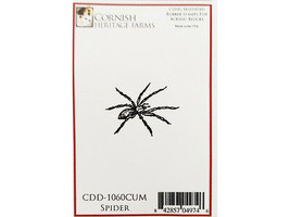 Cornish Heritage Farms Spider Rubber Cling Stamp #CDD-1060