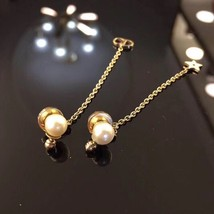 "Authentic Christian Dior ""LA PETITE TRIBALE"" EARRINGS Pearl Dangle Star image 7"