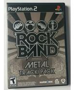 Rock Band Metal Track Pack PS2 Game Playstation 2 Harmonix 2008 - $5.89