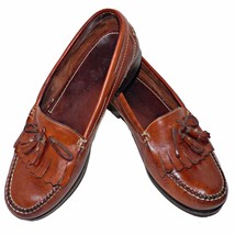 Nordstrom Aniline Top Grain Leather Handsewn Kiltie Tassel Loafers Shoes... - $34.00