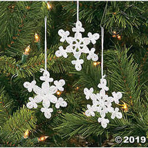 Crocheted Snowflake Ornaments  - $12.49