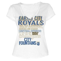 MLB  Woman's Kansas City Royals WORD White Tee with  City Words XL - $15.99