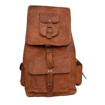 New Handmade Genuine Vintage Rustic Leather Ladies Travel Backpack Rucks... - $53.80