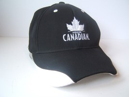 Molson Canadian Beer Hat One Size Stretch Fit Black Reebok Baseball Cap - $23.05