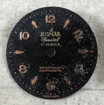 Vintage Josmar Special Dial Antimagnetic 17J FROM OLD STOCK NEW DIAL#14 - $9.18