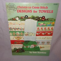 Christmas Cross Stitch Designs Towels Cross Stitch 1987 Pattern Booklet ... - $22.23