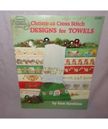 Christmas Cross Stitch Designs Towels Cross Stitch 1987 Pattern Booklet ... - $22.23