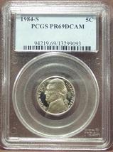 1984-S Proof Jefferson Nickel PCGS PR69DCAM #M013 - $9.99