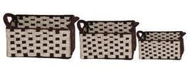 Set Of 3 Two-Tone Wool Felt Baskets In Browns - $25.00