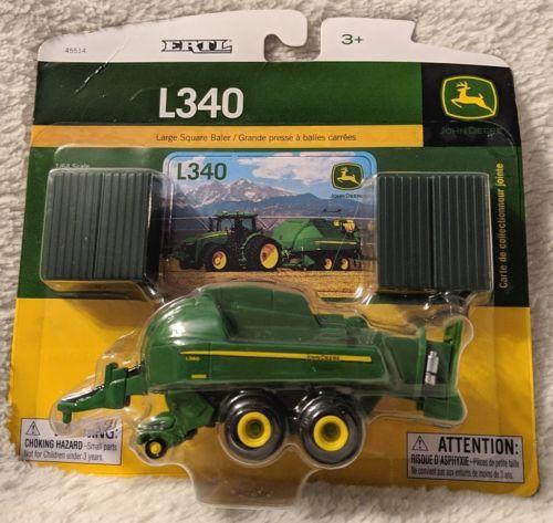 John Deere LP53302 ERTL L340 Large Square Baler 1/64 Scale Die-Cast Toy