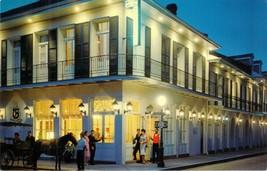 Chateau Motor Hotel New Orleans Louisiana LA Night 1960s Chrome Unused P... - $9.85