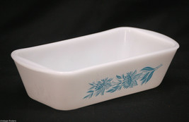 Jeannette Glasbake J-522 Bread Dish Pan Ovenware Blue Cornflower Kitchen Tool - $19.79
