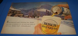 1962 Busch Beer Original Print Ad - 2 Full Page Color - Fine Condition - $11.40