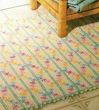 Z502 Crochet Pattern Only Bath Rug & Tissue Roll Holder Pattern - $7.50